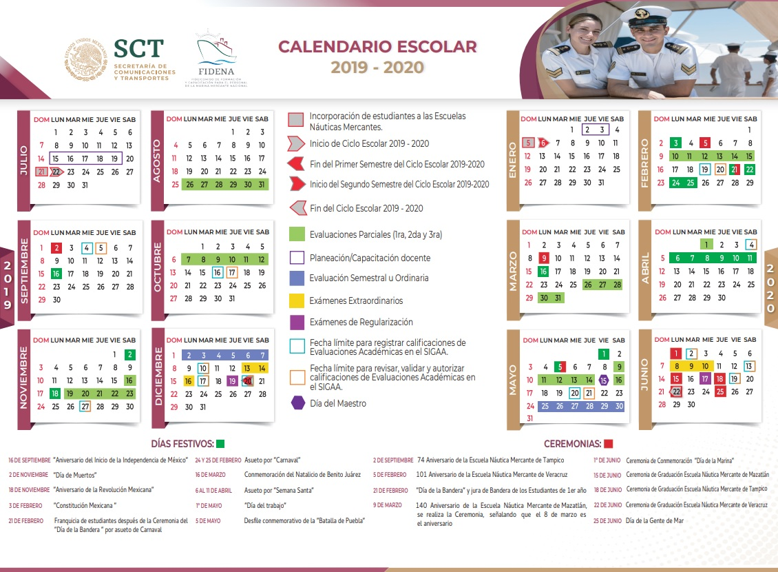 Calendario Escolar 2020 Sep Cdmx.Fidena